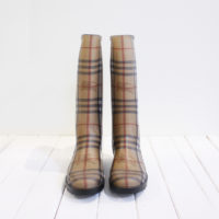 90ce78f3 Burberry Rain Boots Check Print