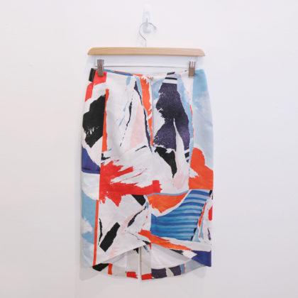 abstract print skirt