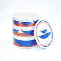"Orange Whale Mug 8"" With Lid"