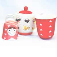 Matryoshka Red Tea Set 1:2