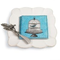 Bird Napkin, Spreader And Plate Set