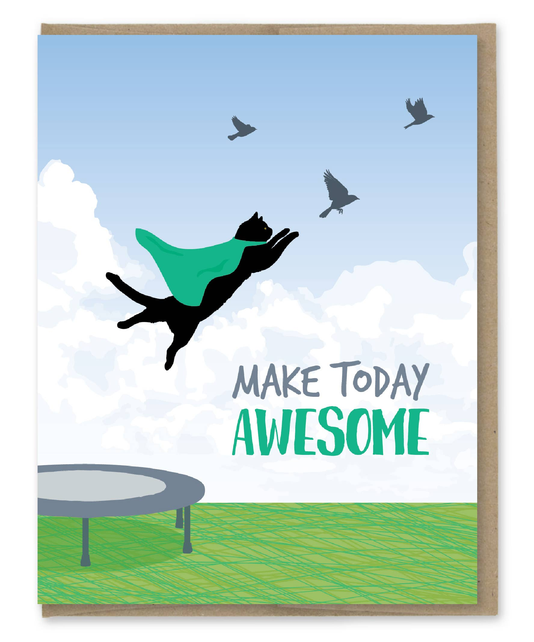 Modern Printed Matter Make Today Awesome Greeting Card