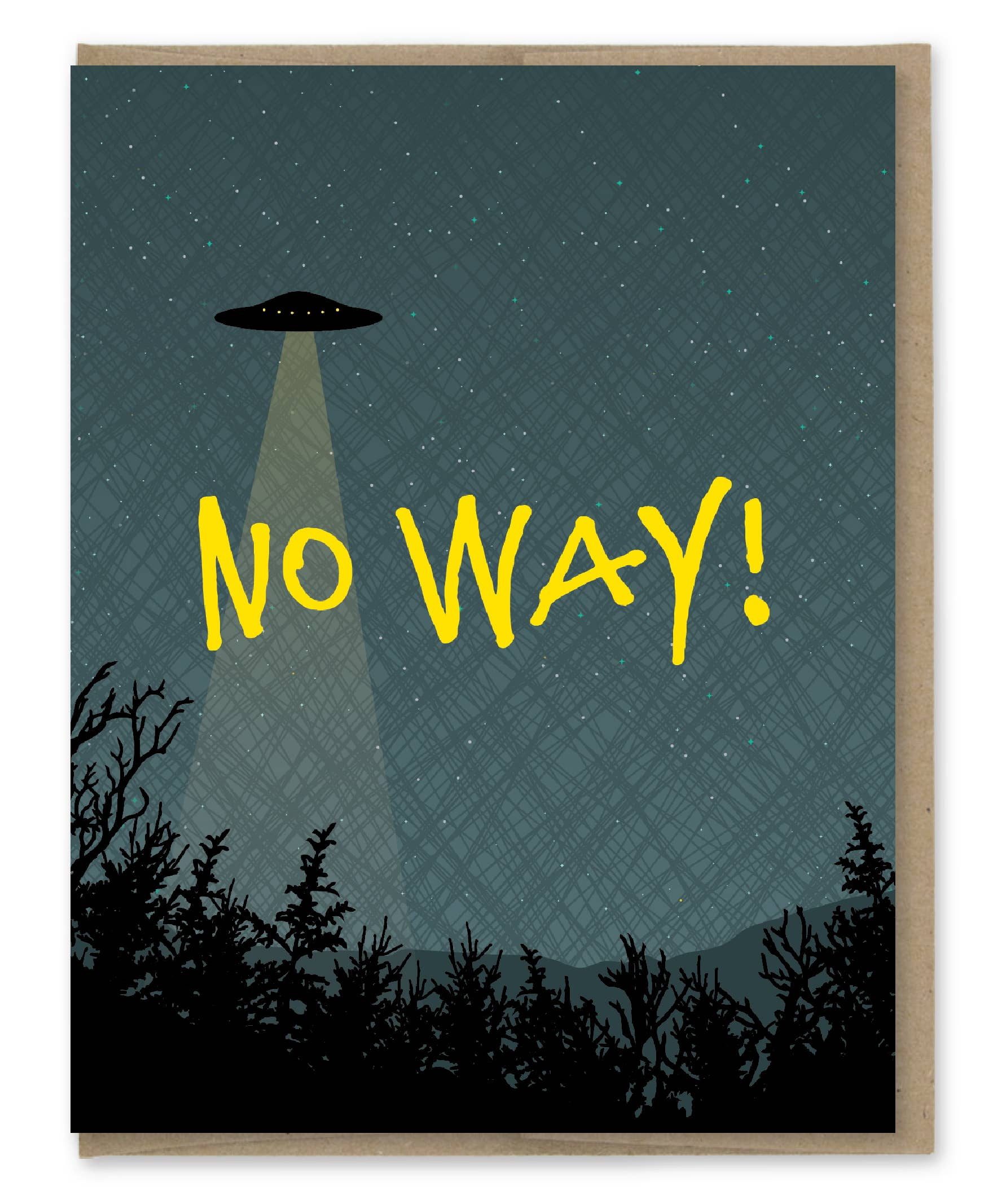 Modern Printed Matter Ufo No Way Greeting Card