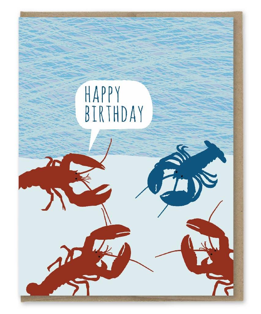 Modern Printed Matter Blue Lobster Freak Birthday Greeting Card