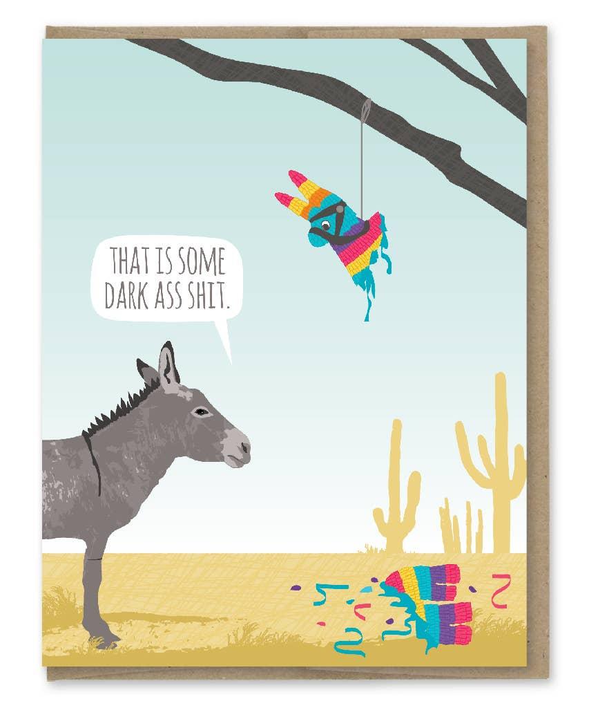Modern Printed Matter Donkey Pinata Birthday Greeting Card