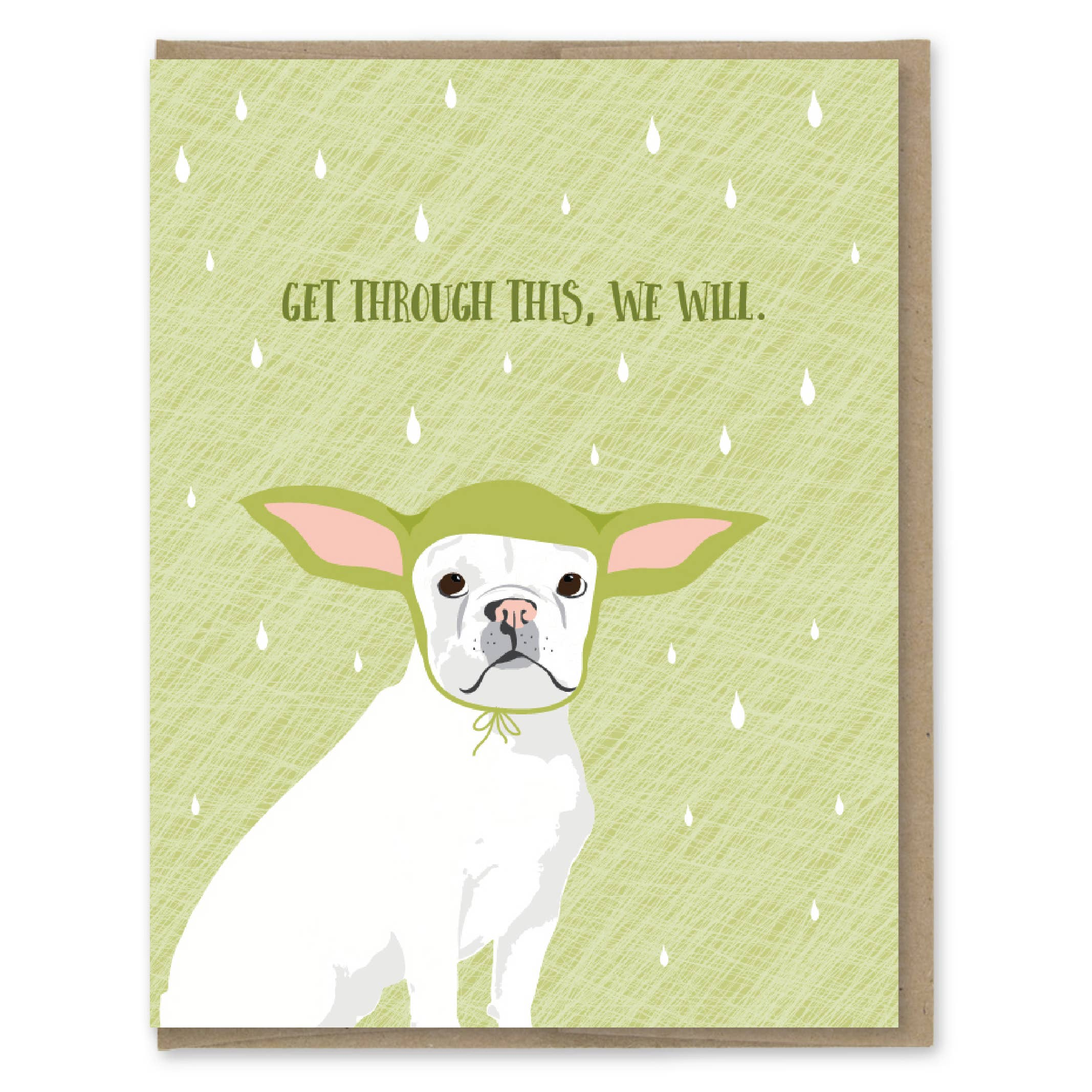 Modern Printed Matter Get Through This Yoda Dog Greeting Card