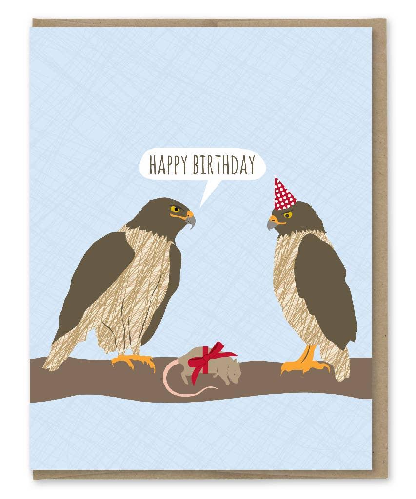 Modern Printed Matter Hawks Birthday Greeting Card