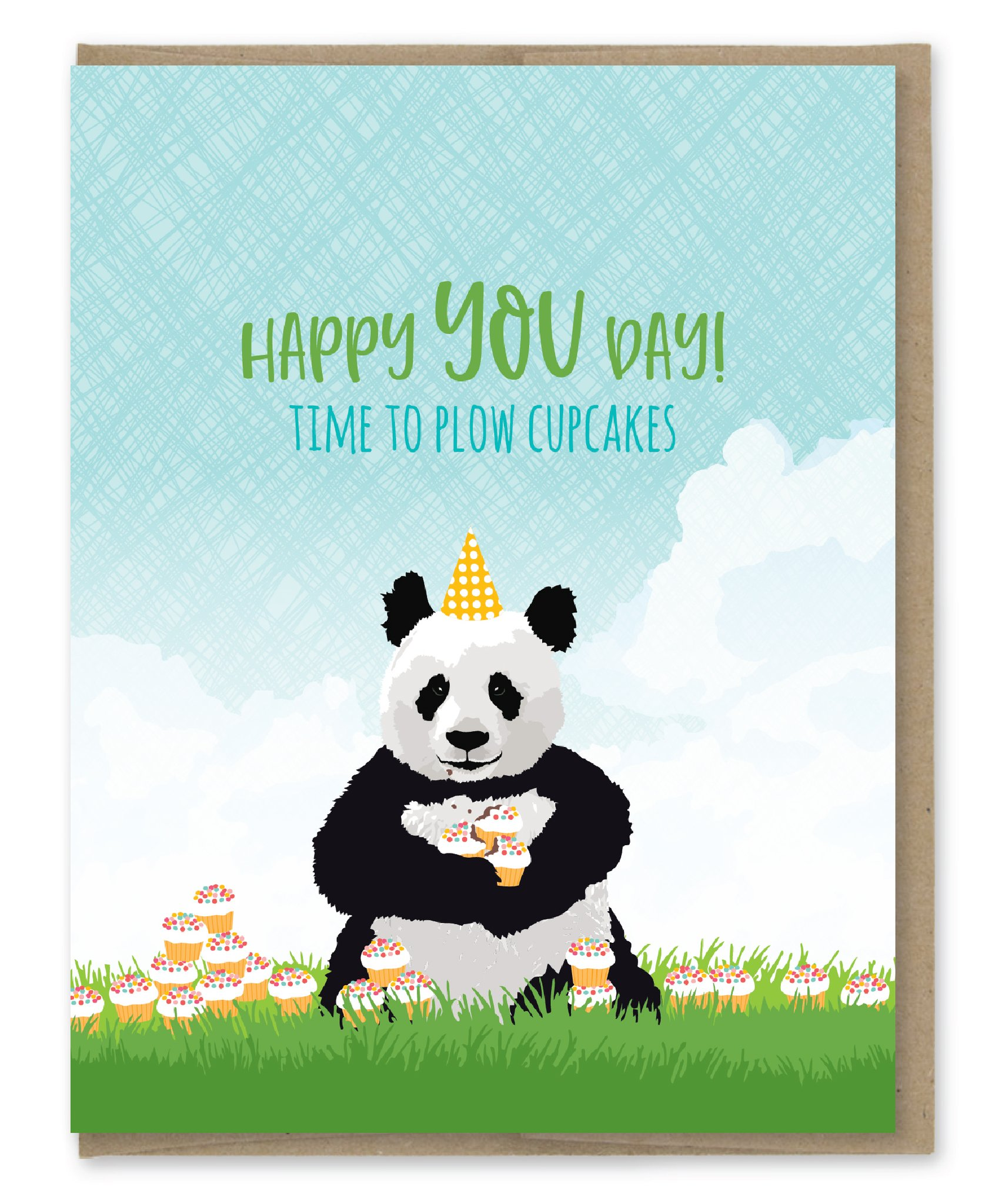 Modern Printed Matter Plow Cupcakes Birthday Greeting Card