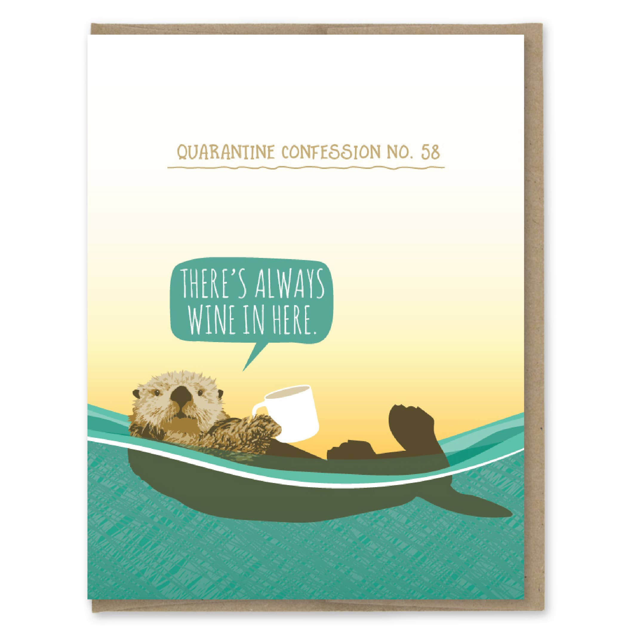 Modern Printed Matter Quarantine Otter Confession Greeting Card