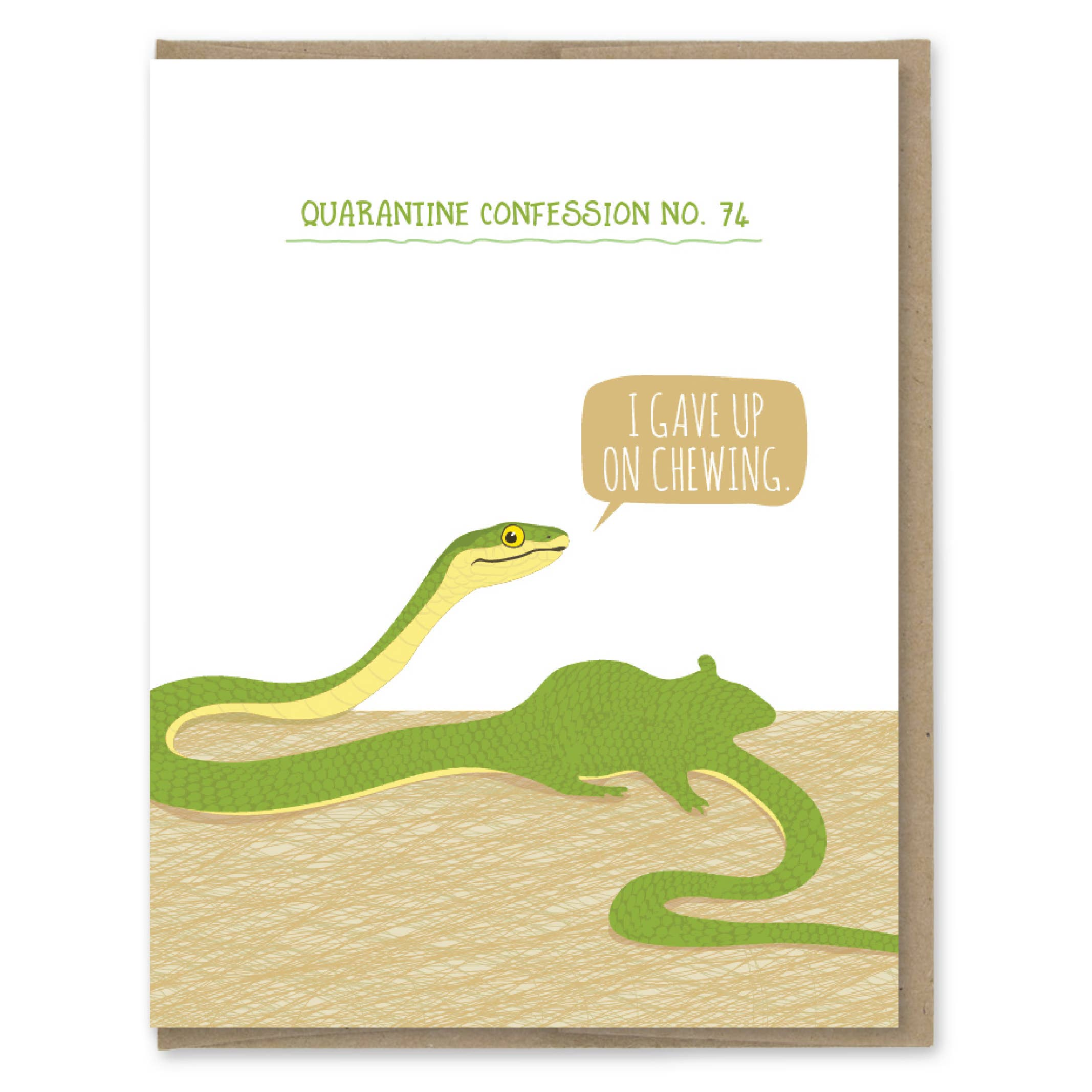 Modern Printed Matter Quarantine Snake Confession Greeting Card