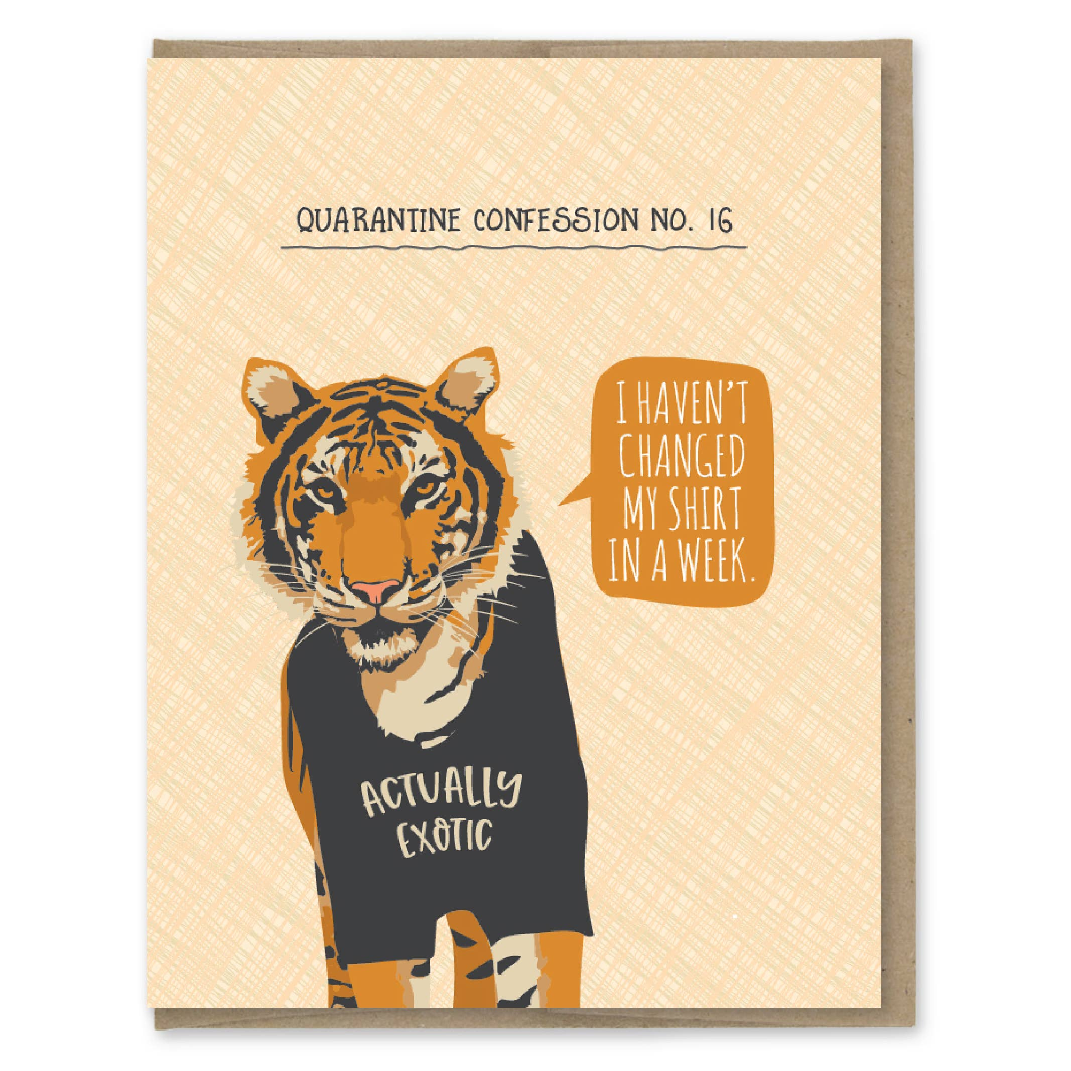 Modern Printed Matter Quarantine Tiger Confession Greeting Card