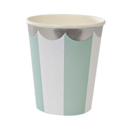 Meri Meri Toot Sweet Blue Stripe Party Cups
