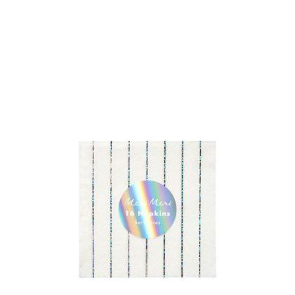 Meri Meri Small Silver Striped Napkins