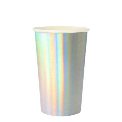 Meri Meri Large Silver Holographic Highball Cup
