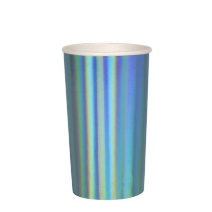 Meri Meri Large Blue Holographic Highball Cup