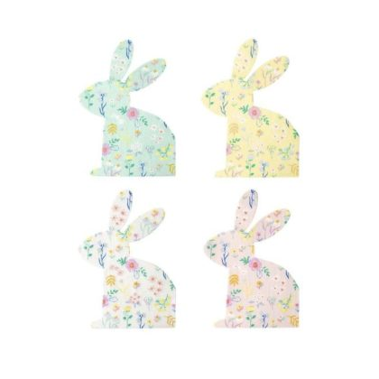 Meri Meri Patterned Bunny Shaped Napkins