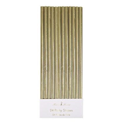 Meri Meri Gold Foil Straws