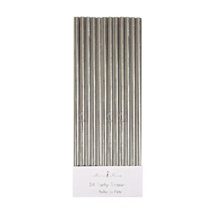 Meri Meri Silver Foil Straws