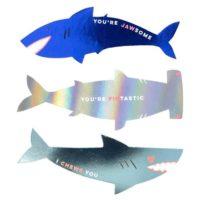 Meri Meri Shark Sticker Valentine Greeting Card Set