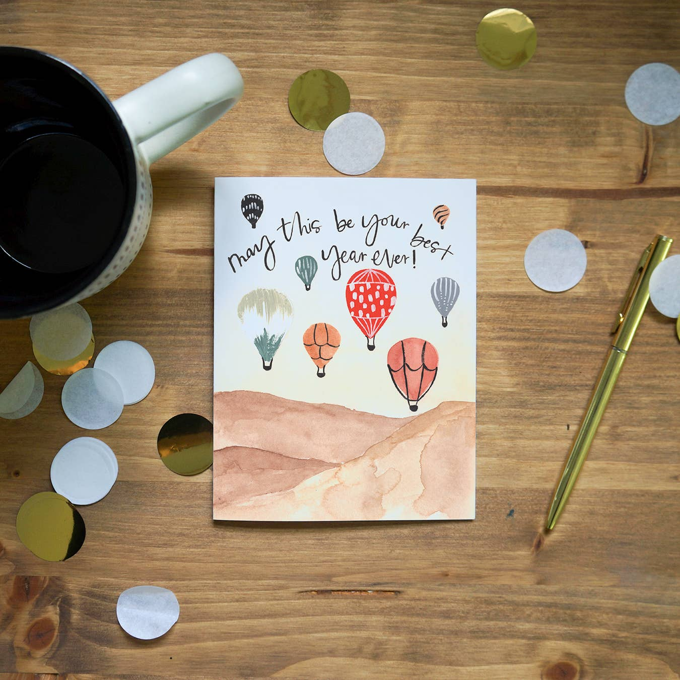 Pen + Pillar Balloon Festival Birthday Greeting Card