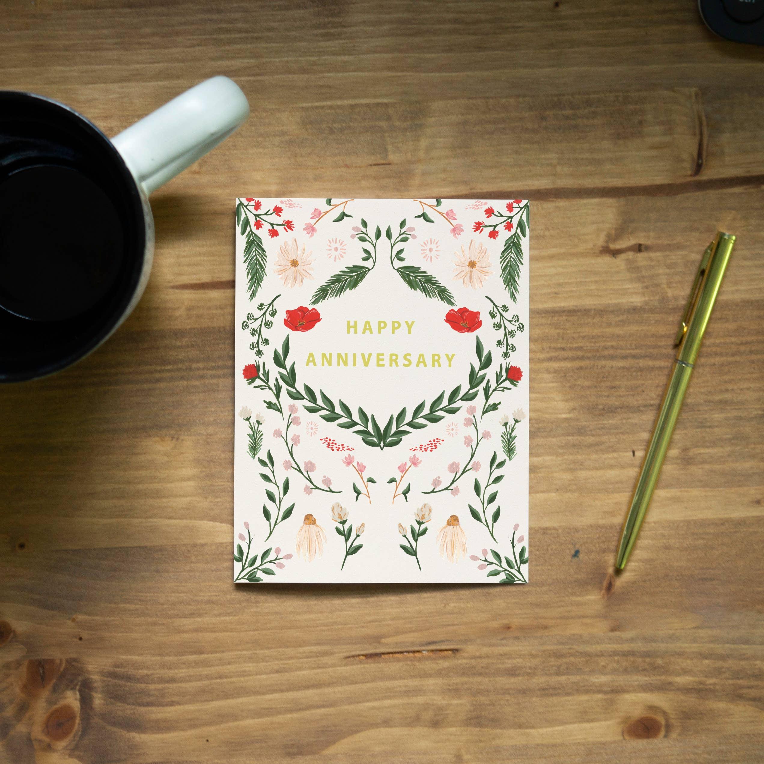 Pen + Pillar Wild Meadow Anniversary Greeting Card