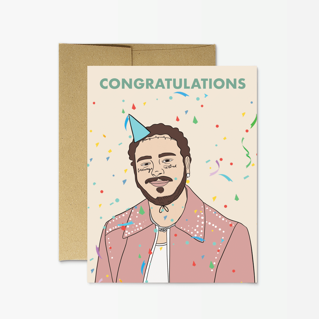 Party Mountain Paper Malone Congratulations Greeting Card
