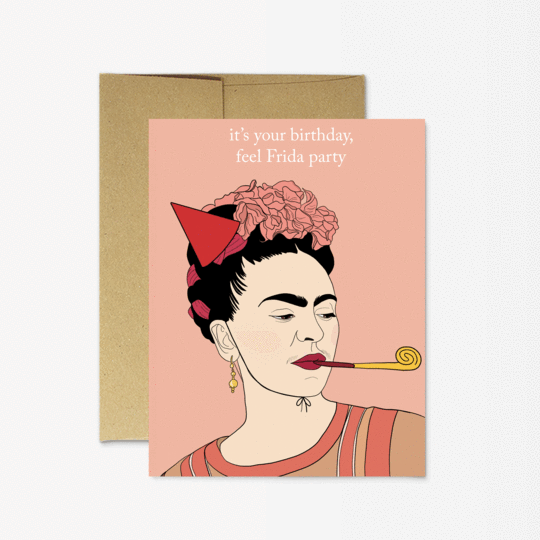 Party Mountain Paper Frida Birthday Greeting Card