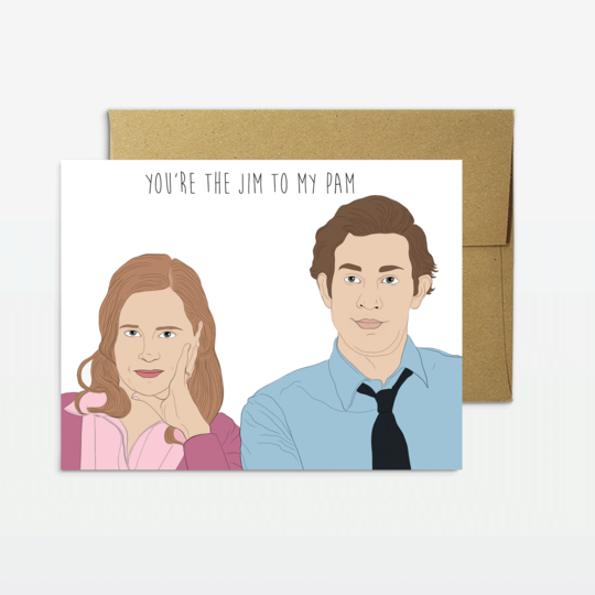 Party Mountain Paper Jim To My Pam Love Greeting Card