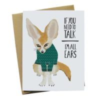 Fennec Fox Sympathy Greeting Card