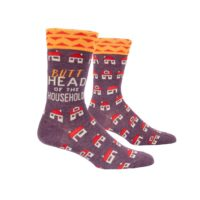 Blue Q men's butthead of the household crew socks