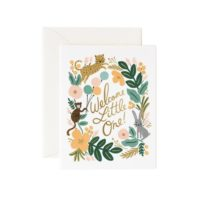 Rifle Paper Menagerie Baby Greeting Card