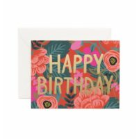 Rifle Paper Poppy Birthday Greeting Card