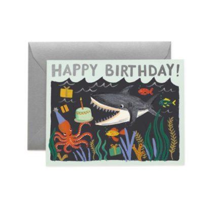 Rifle Paper Shark Birthday Greeting Card