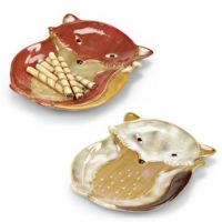 Fox Plate - Ivory/Red