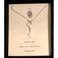 b.u. Necklace - Skeleton Key