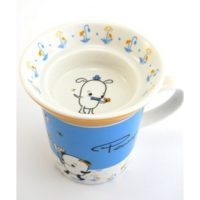 Pecan Pals Cup and Saucer Set - Blue and Yellow