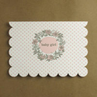 Boxed Baby Girl Scallop Card