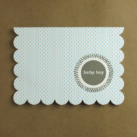 Boxed Baby Boy Scallop Card