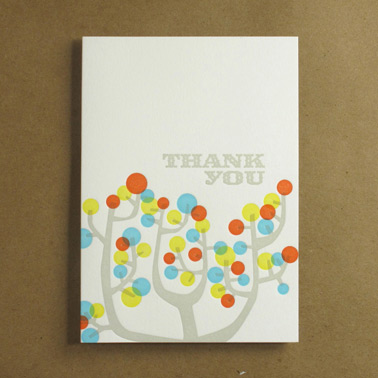 Boxed Cactus Flower Thank You Card