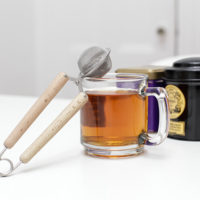 Tea Strainer Wooden Snap