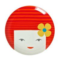 Miya Red Kokeshi Plate