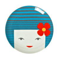 Miya Blue Kokeshi Plate