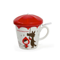 Miya Little Red Mug Set With Strainer
