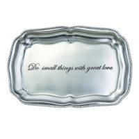 Mud Pie Great Love Antique Pewter Rectangular Tray