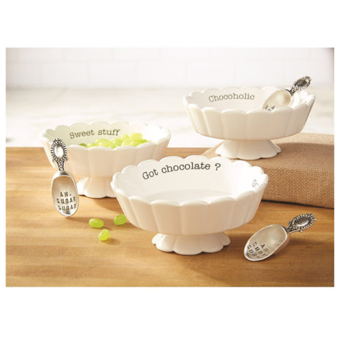 Mud Pie Scalloped Candy Dish Sets