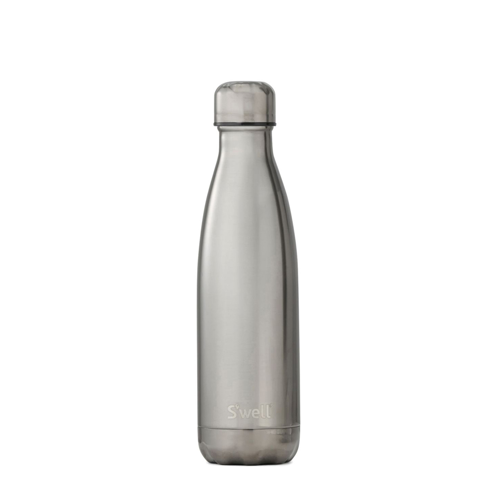 S Well Metallic Collection Titanium Water Bottle Front