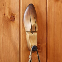 Shoe Stretcher Wall Hook With Faux Wood Finish