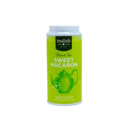 Tealish Sweet Macaron Green Dessert Tea Tin