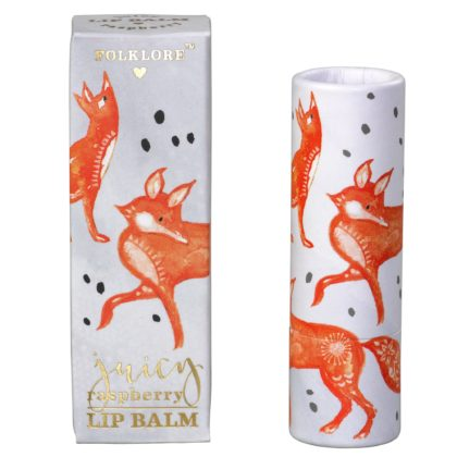 Wild & Wolf Fox Lip Balm - Juicy Raspberry