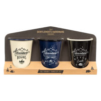 Wild & Wolf Enamel Tumblers Set of 3